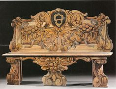 decorative painted bench