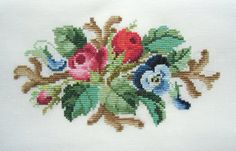 This pattern is re-charted form an antique hand painted chart in my collection. This listing is for the pattern only, stitched piece is only for