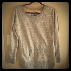Thin sweater Nice think gray with white dots!!! SO Sweaters