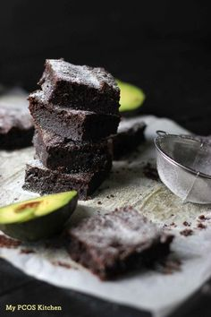 Keto Avocado Brownies (Gluten-free/Sugar-free) - My PCOS Kitchen