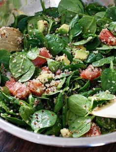 I love salad! 7 Salad Recipes that will have your waistline shrinking and your taste buds singing!because I do not love salad, maybe this will help ; Healthy Salads, Healthy Eating, Healthy Recipes, Healthy Fats, Savory Salads, Healthy Choices, Delicious Recipes, Vegetarian Recipes, I Love Food