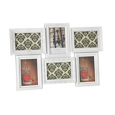Austin Collage Frame White 6 Openings. Also comes in black