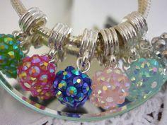 Sparkling+Disco+Bead+European+Dangle+Charm+by+GreenBohemia+on+Etsy,+$1.75