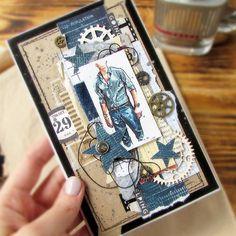 #скрпап#скрапбукинг#мужскойскрап#мужскаяоткрытка#мужскаяработа#ручнаяработа#открыткаручнойработы#scrap#scrapbooking#cardforman#card#cardmaking#prima#primamarketing Card Tags, Gift Tags, Box Photo, Homemade Greeting Cards, Birthday Cards For Men, Book Projects, Masculine Cards, Vintage Men, Cardmaking