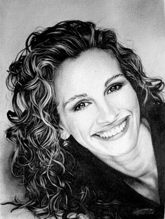 Julia Roberts by Domine | First pinned to Celebrity Art board here... http://www.pinterest.com/fairbanksgrafix/celebrity-art/ #Drawing #Art #CelebrityArt
