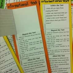 To teach my kids questioning I created book marks with space to record student generated question.