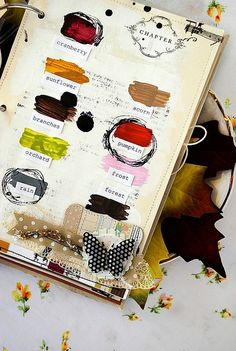 take a palette of the primary colors and black and white on a walk and do a page of colors you make that are inspired by nature