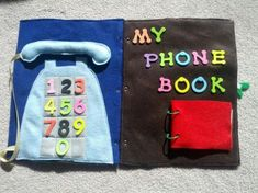 Telephone Quiet Book Pages | And