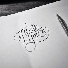Creative Lettering, Lettering Styles, Brush Lettering, Lettering Design, Logo Design, Calligraphy Letters, Typography Letters, Thank You Caligraphy, Thank You Font