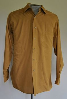 Van Heusen Shirt Men's XL Classic Fit Stripped Polyester Blend Long Sleeve #VanHeusen free shipping auction starting at$10.99
