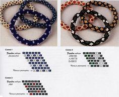 "Technique of weaving ""peas"" / Bracelets / Biserok.org"