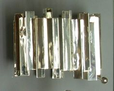 Silver cuff by Aaron Rubinstein