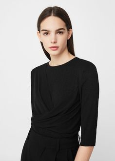 Wrap t-shirt -  Women | MANGO USA