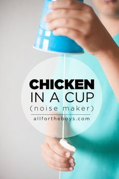 in a Cup Science of sound fun! All for the Boys - Chicken in a CupScience of sound fun! All for the Boys - Chicken in a Cup Farm Activities, Science Activities, Science Projects, Science Experiments, Projects For Kids, Crafts For Kids, Science Fair, Farm Games, Toddler Crafts