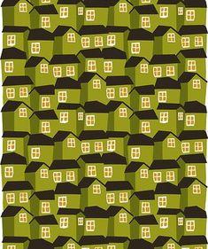 Marimekko - Mokki houses print