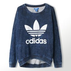 adidas Women's French Terry Acid-Wash Crewneck Sweatshirt | adidas Canada