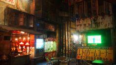 """adelruna: """" Kawasaki Warehouse - a Japanese recreation of the infamous Kowloon Walled City in Hong Kong Image sources: 1 2 3 """" Kowloon Walled City, Cyberpunk City, Akira, Hong Kong, Anatole France, Dark City, Urban City, Environment Concept, Slums"""