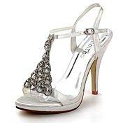 $69.99 Satin Stiletto Heel Sandals Honeymoon / Wedding Shoes With Rhinestone (More Colors)