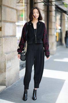 Xiao Wen by Diego Zuko - Haute Couture Fall 2014 - Street Style - Harper's BAZAAR