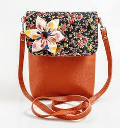 Your place to buy and sell all things handmade Crossbody Shoulder Bag, Crossbody Bag, Shoulder Bags, Purse For Teens, Orange Brown, Cute Purses, Big Bags, Polka Dot Print, Saddle Bags