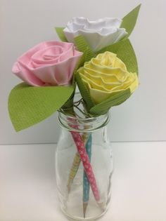 How to Make a Flower Pencil Topper
