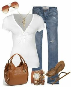 Very simple LOLO Moda: Stylish women outfits 2013 my kinda style Mode Outfits, Casual Outfits, Summer Outfits, Fashion Outfits, Womens Fashion, Fashion Trends, Basic Outfits, Casual Mode, Mode Jeans