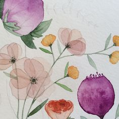 Flower details www.bethanyeden.com  #floral #watercolor #illustrations