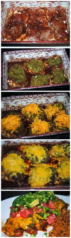 Smothered Green Chile Pepper Chicken Recipe