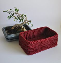 Big fruit basket or just table decor :) This crochet box is great as a food storage or element of home design. Can be used also for toy storage, cosmetic