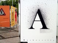Baskerville Font Poster by Rubber Dragon, via Flickr