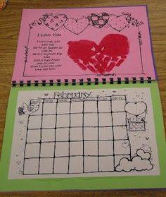 Katie's Nesting Spot: Handprint Calendar - would make a cute book!