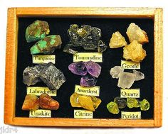Miniature Rock Collection Display - Handmade 1:12 scale (03/31/2013)