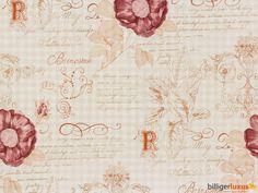 Rasch Textil Tapeten VINTAGE DIARY Tapete Landhaus Stil 255088 Rosen weiß braun Tapeten Rasch Textil Vintage Diary