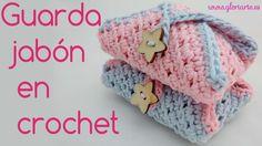Funda para jabon de ganchillo. Case Cover for crochet soap.