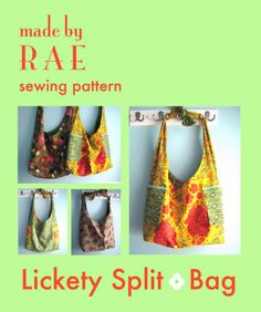 Lickety Split - I have this pattern - really easy and cute. Be sure to check out her blog for the mini-bag tut!