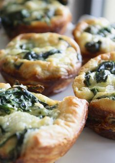 Spinach and feta pop-in-your mouths -- great for breakfast or parties!