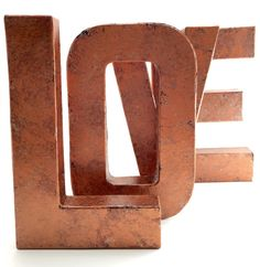 Faux Metal Letters - Copper - Hammered Copper - Antique - Vintage - Industrial - Decorative - Copper - Rustic - Beautiful