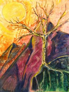 VisionDialogue • Tree #1  new week, new theme .. this week it is all about Trees  Tree #1 - gouache and india ink on heavy watercolour paper