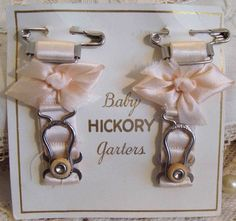 Circa 1920s Pink Silk Baby Garters Adorned With Flowerettes