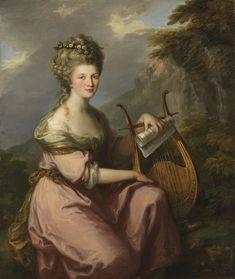 Angelica Kauffmann.  Portrait of Sarah Harrop (Mrs. Bates) as a Muse. ca. 1780 - 1781