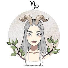 Capricorn By Miranzmccormick Arte Aries, Zodiac Signs Capricorn, Astrology Zodiac, Gemini, Anime Zodiac, Zodiac Art, 12 Zodiac, Zodiac Characters, Zodiac Sign Fashion