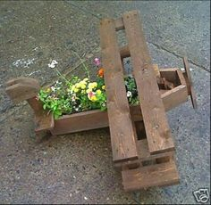 Wooden plane for in the garden