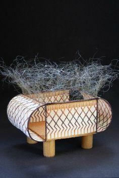 Jeanette Ahlgren Loom-woven Bead Work and Wire Warp Baskets