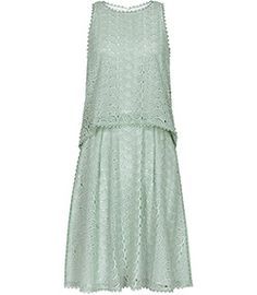 Remi Seapine/oyster Tiered Lace Dress - REISS