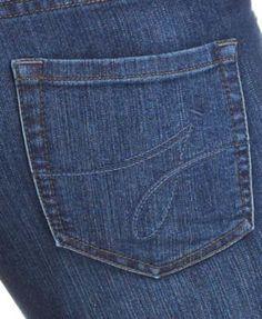 JAG Peri Straight-Leg Pull-On Jeans, Anchor Blue Wash