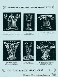 Sowerby Glass Catalogue Page