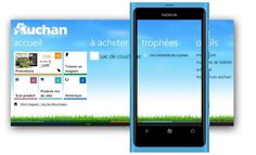 "Auchan app for windows phone, winner of the ""le mobile"" hackathon"