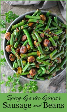 I have partnered with Kansas Farm Bureau to bring you a recap of The Farm Food Tour and this easy, spicy, keto-friendly dish of Sausage And Beans that would also make a delicious holiday side dish! Top Recipes, Bean Recipes, Dinner Recipes, Healthy Recipes, Holiday Side Dishes, Best Side Dishes, Homemade Taco Seasoning, No Bean Chili, Smoked Paprika