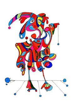 Pylokraten IV von Etelka Kovacs-Koller - mad for art auf DaWanda.com Illustration, Sonic The Hedgehog, Artworks, Disney Characters, Fictional Characters, Mad, Etsy, Drawing S, Illustrations