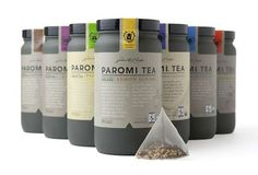 ... Infusions - Paromi Tea Packaging Looks Refined in Matte Glass Bottles